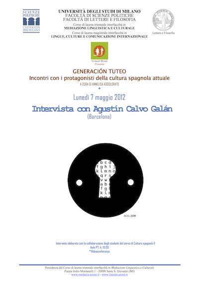 Intervista con Agustin Calvo Galan